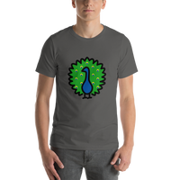 Emoji T-Shirt Store | Peacock emoji t-shirt in Dark gray
