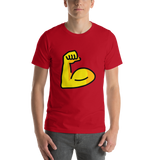 Emoji T-Shirt Store | Flexed Biceps emoji t-shirt in Red