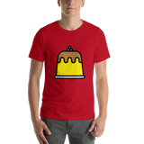 Emoji T-Shirt Store | Custard emoji t-shirt in Red