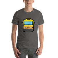 Emoji T-Shirt Store | Oncoming Bus emoji t-shirt in Dark gray