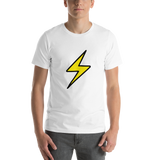 Emoji T-Shirt Store | High Voltage emoji t-shirt in White