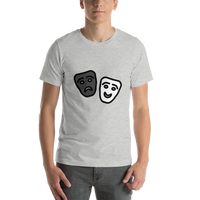 Emoji T-Shirt Store | Performing Arts emoji t-shirt in Light gray