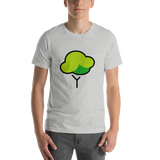 Emoji T-Shirt Store | Deciduous Tree emoji t-shirt in Light gray