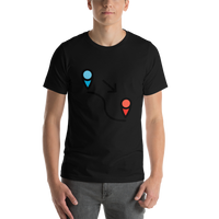 Emoji T-Shirt Store | Locomotion emoji t-shirt in Black