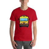 Emoji T-Shirt Store | Oncoming Bus emoji t-shirt in Red