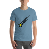 Emoji T-Shirt Store | Shooting Star emoji t-shirt in Blue
