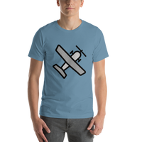 Emoji T-Shirt Store | Small Airplane emoji t-shirt in Blue