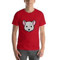 Emoji T-Shirt Store | Mouse Face emoji t-shirt in Red