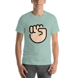Emoji T-Shirt Store | Raised Fist, Light Skin Tone emoji t-shirt in Green