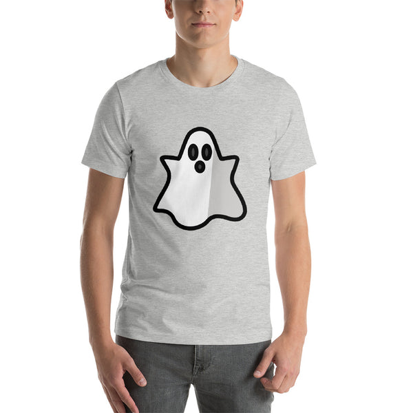 Emoji T-Shirt Store | Ghost emoji t-shirt in Light gray