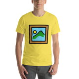 Emoji T-Shirt Store | Framed Picture emoji t-shirt in Yellow
