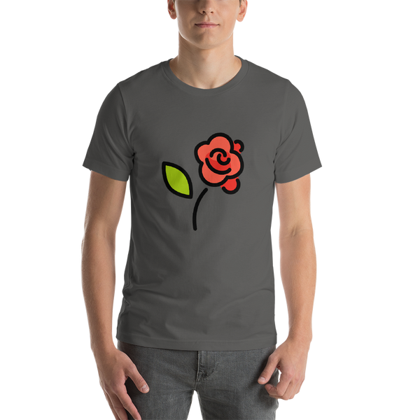 Emoji T-Shirt Store | Rose emoji t-shirt in Dark gray
