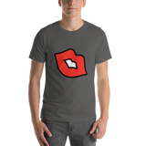 Emoji T-Shirt Store | Kiss Mark emoji t-shirt in Dark gray