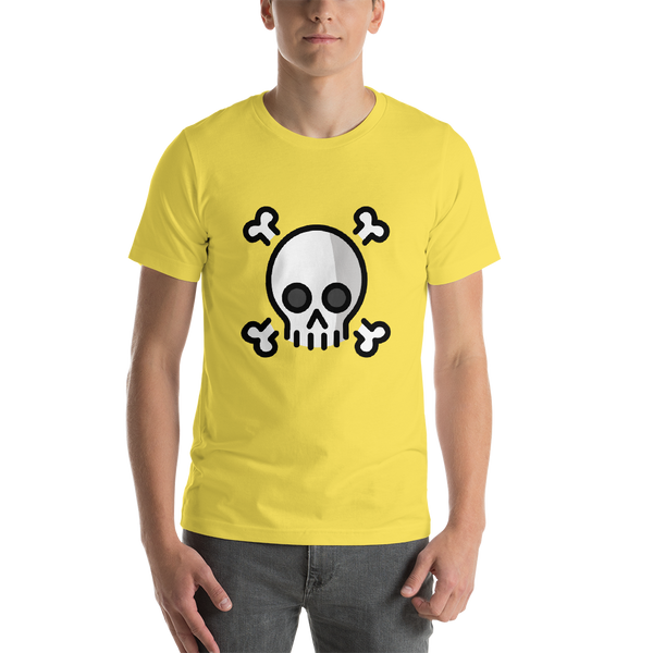 Emoji T-Shirt Store | Skull And Crossbones emoji t-shirt in Yellow