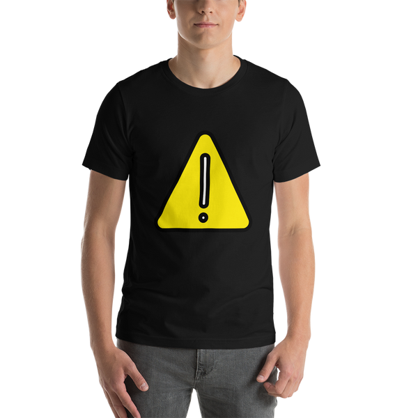 Emoji T-Shirt Store | Warning emoji t-shirt in Black