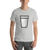 Emoji T-Shirt Store | Glass Of Milk emoji t-shirt in Light gray