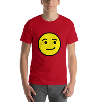 Emoji T-Shirt Store | Smirking Face emoji t-shirt in Red