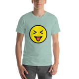 Emoji T-Shirt Store | Squinting Face With Tongue emoji t-shirt in Green