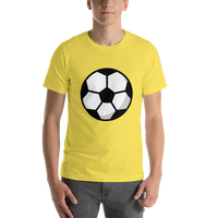 Emoji T-Shirt Store | Soccer Ball emoji t-shirt in Yellow