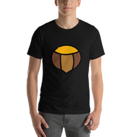 Emoji T-Shirt Store | Chestnut emoji t-shirt in Black