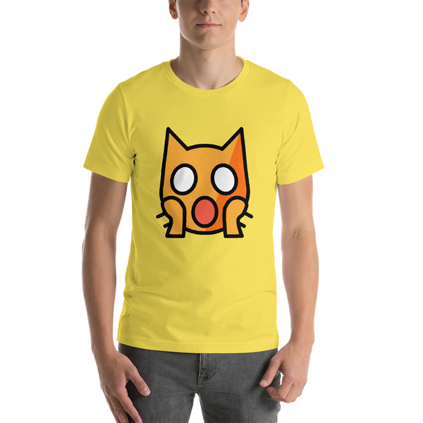 Emoji T-Shirt Store | Weary Cat emoji t-shirt in Yellow