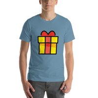 Emoji T-Shirt Store | Wrapped Gift emoji t-shirt in Blue