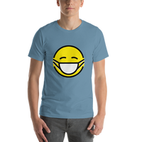 Emoji T-Shirt Store | Face With Medical Mask emoji t-shirt in Blue