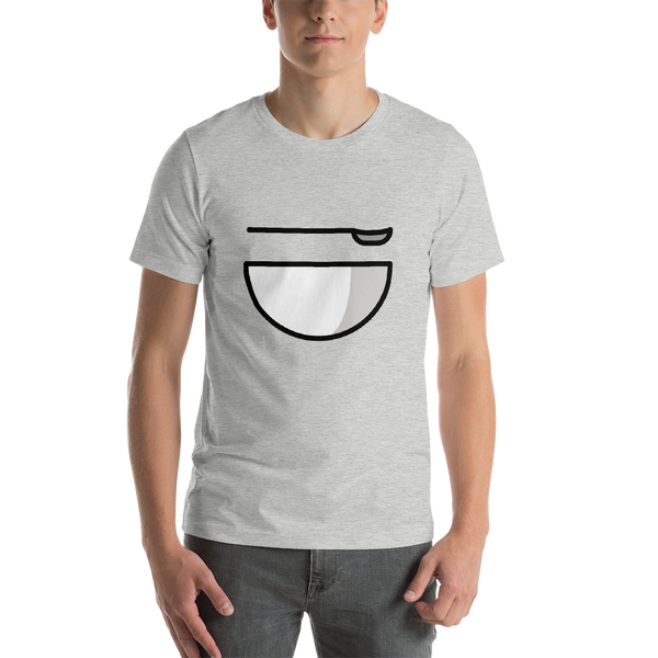 Emoji T-Shirt Store | Bowl With Spoon emoji t-shirt in Light gray