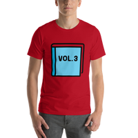 Emoji T-Shirt Store | Blue Book emoji t-shirt in Red