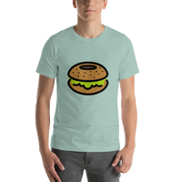 Emoji T-Shirt Store | Bagel emoji t-shirt in Green