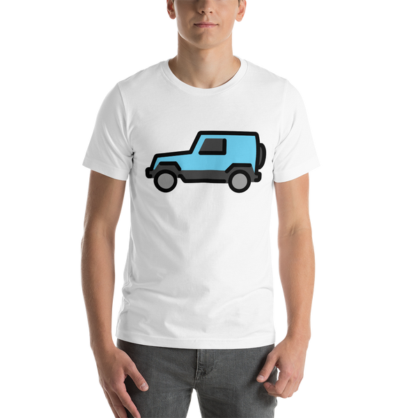 Emoji T-Shirt Store | Sport Utility Vehicle emoji t-shirt in White