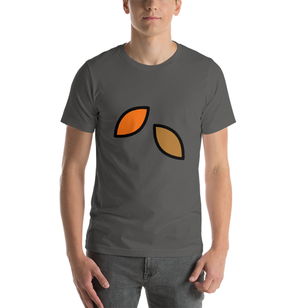 Emoji T-Shirt Store | Fallen Leaf emoji t-shirt in Dark gray