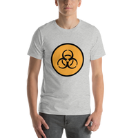 Emoji T-Shirt Store | Biohazard emoji t-shirt in Light gray