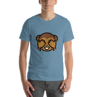 Emoji T-Shirt Store | See-No-Evil Monkey emoji t-shirt in Blue