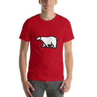 Emoji T-Shirt Store | Polar Bear emoji t-shirt in Red