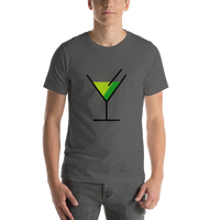 Emoji T-Shirt Store | Cocktail Glass emoji t-shirt in Dark gray