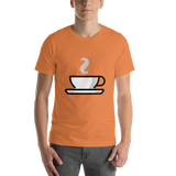 Emoji T-Shirt Store | Hot Beverage emoji t-shirt in Orange