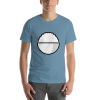 Emoji T-Shirt Store | Cooked Rice emoji t-shirt in Blue