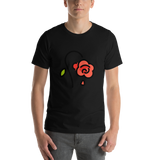 Emoji T-Shirt Store | Wilted Flower emoji t-shirt in Black
