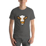 Emoji T-Shirt Store | Cow Face emoji t-shirt in Dark gray