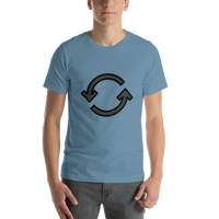 Emoji T-Shirt Store | Counterclockwise Arrows Button emoji t-shirt in Blue