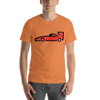 Emoji T-Shirt Store | Racing Car emoji t-shirt in Orange
