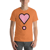Emoji T-Shirt Store | Heart Exclamation emoji t-shirt in Orange