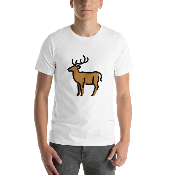Emoji T-Shirt Store | Deer emoji t-shirt in White