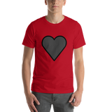 Emoji T-Shirt Store | Black Heart emoji t-shirt in Red