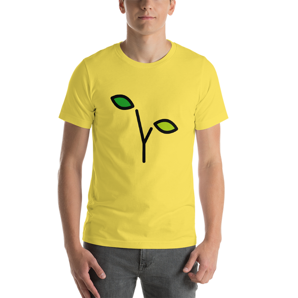 Emoji T-Shirt Store | Seedling emoji t-shirt in Yellow