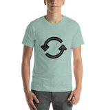 Emoji T-Shirt Store | Counterclockwise Arrows Button emoji t-shirt in Green