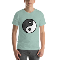Emoji T-Shirt Store | Yin Yang emoji t-shirt in Green
