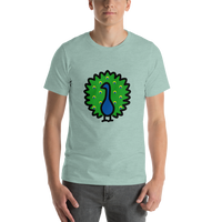 Emoji T-Shirt Store | Peacock emoji t-shirt in Green