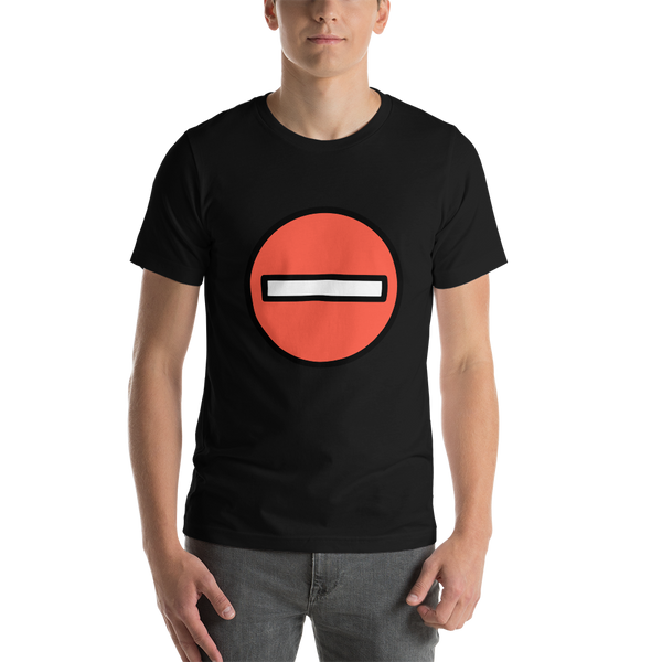 Emoji T-Shirt Store | No Entry emoji t-shirt in Black